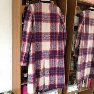 Zara Jackets & Coats - ZARA red and plaid coat